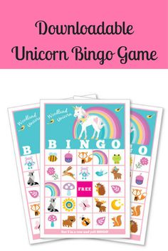 This would be a lot of fun to play at a child's birthday party. Woodland Unicorn BINGO Game - Kid's Printable Bingo Game - Bingo Game for Kids - Woodland Animals and Unicorn Instant Download (sponsored)
