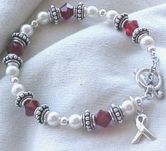 Head & Neck or Oral Cancer Awareness Bracelet by sweetpea321, $42.00