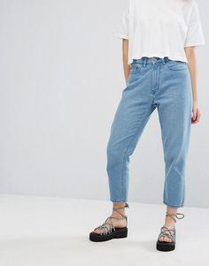Elsa - Mom-Jeans mit ausgeschnittenem Design - Blau Wåven gV0TVxmR