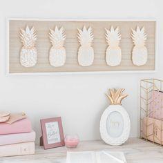Pineapple home accessories   ANANAS ADDICT relief artwork 70 x 25cm   Maisons du Monde