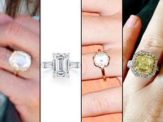 Tell Us who had the best engagement ring of 2012: Jennifer Aniston, Angelina Jolie, Miley Cyrus or Kelly Clarkson? (from left to right)