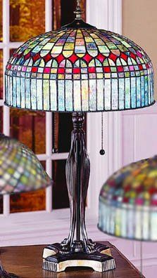 Love the Arts and Crafts style Tiffany lamps!
