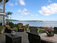 Camano Island Vacation Rental - VRBO 362391 - 4 BR Puget Sound North House in WA, Coastal Living - Luxury Beach Home on Level Waterfront