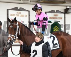 Far From Over wins the 2015 Withers Stakes at Aqueduct. Coglianese Photos/Susie Raisher