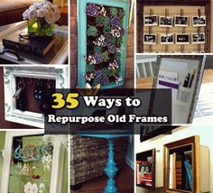 Now do not throw your old picture frames. Here is a collection of DIY Recycled Craft Ideas. How to make reuse of old picture frames has made so easy now. Picture Frame Crafts, Old Picture Frames, Old Frames, Upcycled Home Decor, Recycled Crafts, Repurposed, Diy And Crafts, Diy Recycle, Reuse