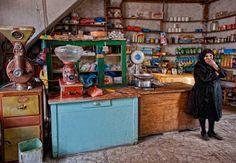 old groccery shop. Greek Cafe, Crete, Store Design, Liquor Cabinet, Traditional, Storage, Furniture, Honey, Shops