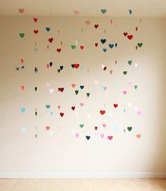 Floating Heart Backdrop sets the mood. #Valentine #DIY