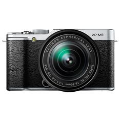 so sleek, vintage, and classy!!  Fujifilm X-M1 16MP Mirrorless Camera with 16-50mm Lens - Silver