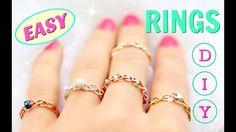 5 DIY rings | Adjustable & No Tools!!! | DIY Easy rings - YouTube