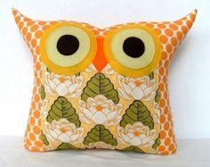Vente /Amy Butler design tissu /pond Lily chouette oreiller