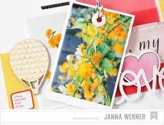 Scrapbooking Layout mit angetäuschtem Polaroid-Stil und verstecktem Journaling | Janna Werner
