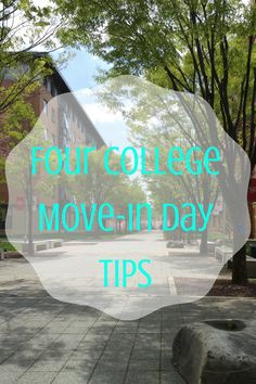 Four College Move-In Day Tips TrulyIndulgent.com Back To School College Dorm Room First Day of College Moving In