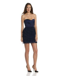 f555ea0b5ac0a BCBGMAXAZRIA Blue Pleated Short Cocktail Dress Size 10 (M). Free shipping  and guaranteed