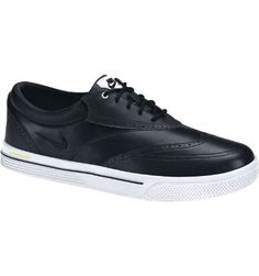e9b136d5aad6 Nike Men s Lunar Swingtip Leather Golf Shoe - Black White Volt Own them.