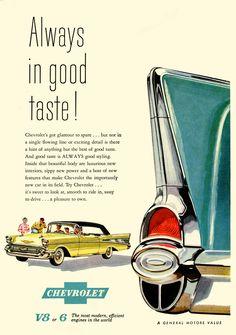 Chevrolet auto - It Retro Ads, Vintage Advertisements, Vintage Ads, Vintage Signs, Jdm, Muscle Cars, 1957 Chevy Bel Air, Chevrolet Bel Air, Chevrolet Auto