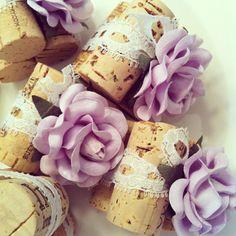 Lilac & Lace Wedding Place Card Holders by KarasVineyardWedding