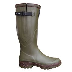 Aigle Parcours 2 ISO Wellington Boots - Bronze The Parcours 2 ISO Wellington Boot offers fatigue-free walking thanks to its natural rubber sole which