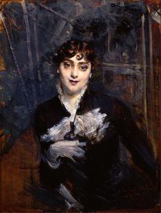 Giovanni Boldini (Italian, 1842-1931) - La bella Holdin - 1880