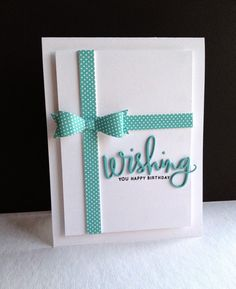 Love the way Lisa Adessa used the Simon Says stamp Wishing Die and sentiment on this card.