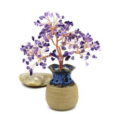 Items similar to Natural Amethyst Wire Tree Sculpture Purple Gemstone Tree Bonsai Tree Wire Tree of Life Lucky Tree Energy Healing Feng Shui Tree Birth Stone on Etsy Feng Shui Tree, Wire Tree Sculpture, Wire Trees, Tree Of Life, Bonsai, Birthstones, Amethyst, Gemstones, Purple