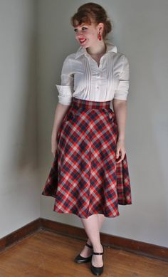 The Highland Fling Pocket Skirt by necessityisthemother on Etsy