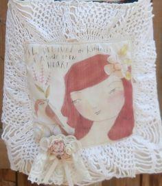 Kindness Handmade Shabby Chic Cross Body Bag  by CrossMyHeartBags, $28.00