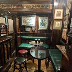 Would be cool to have booths back under the stairs maybe with green or red type bench coverings Diy Home Bar, Home Pub, Bars For Home, Irish Pub Interior, Irish Pub Decor, Pub Design, Bodega Bar, Decoration Restaurant, Pub Sheds