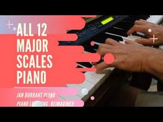 All 12 Major Scales Piano - YouTube E Major, Major Scale, Piano Scales, Print Music, Free Sheet Music, Music Theory, Musical, Tutorials, Youtube