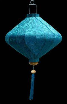 Silk Lanterns :: Turquoise Diamond Lantern - Turquoise