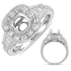14k 1.01 Dwt Diamond White Gold Engagement Ring, Women's, Size: 7