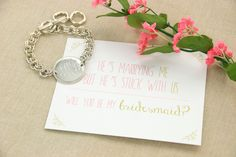 Monogrammed bracelet for bridesmaids gifts | Initial Outfitters