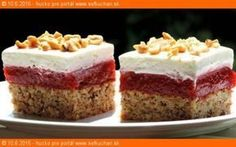 Jahodová brutalita - My site Cake Bars, Russian Recipes, Dessert Recipes, Desserts, Sweet And Salty, Something Sweet, Sweet Recipes, Cheesecake, Food And Drink