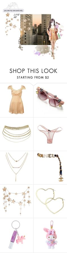 """☆ろまんす☆"" by gashadokuro ❤ liked on Polyvore featuring Cosabella, Chanel and Thalia Sodi"