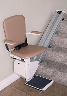 High back seat design has a classic seat belt that provides comfort and support Two wireless remote controls and armrest switch make it easy to call or send lift Battery operated system charges automatically and works when the power is out Stair Lift, Cafe Seating, Cheap Adirondack Chairs, Chairs For Rent, Swivel Rocker Recliner Chair, Staircase Remodel, Used Chairs, Office Chair Without Wheels, Contemporary Dining Chairs