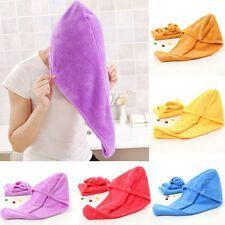 Quick Drying Microfiber Hair Towel Wrapped Turban Turbie Twist Hat Caps Spa Bath
