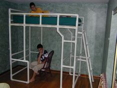 PVC is amazingly strong. I built two loft beds from PVC for my boyz and it lasted well into their high school years without crashing down.