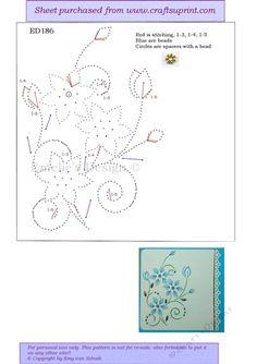 ED186 Blaue Blumen