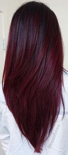 ombre hair Best Hair Ombre Brown Burgundy Ideas t's been a different wine-filled Ombre Hair Color, Cool Hair Color, Brown Hair Colors, Burgundy Color, Brown To Burgundy Hair, Burgendy Hair Color, Wine Red Hair Color, Burgundy Hair With Highlights, Burgundy Balayage