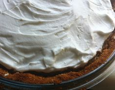 Coconut-Lime Pie, with whipped coconut cream on top!