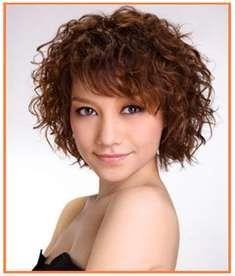 Short dark curly hair