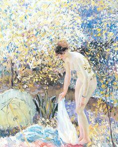 Cherry Blossoms  Frederick C. Frieseke