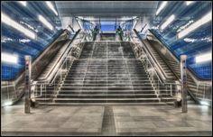 U-Bahnausgang nähe der Hafencity in Hamburg