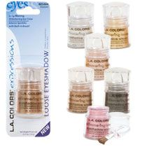 L.A. Colors Expressions Shimmering Loose Eyeshadows - In 'Snow White'