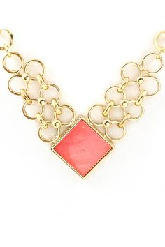 Blush Mother of Pearl Clair Necklace.