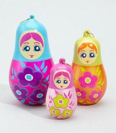 Adornos de navidad de matrioshka Russian Doll Christmas Ornaments