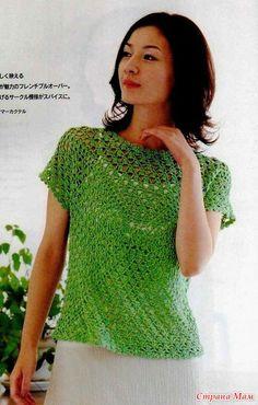 Crochet camicetta verde  granny