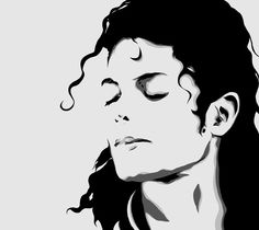 Michael Jackson art Pillow Case, Chusion Cover ( 1 or 2 Side Print With Size 36 inch ) Michael Jackson Dibujo, Art Michael Jackson, Michael Jackson Drawings, Michael Jackson Silhouette, Silhouette Face, White Art, Black And White, Jackson's Art, Stencil Art