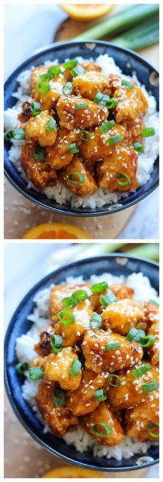 Chinese Orange Chicken - Not even Panda Express can beat this homemade orange chicken! #foodie