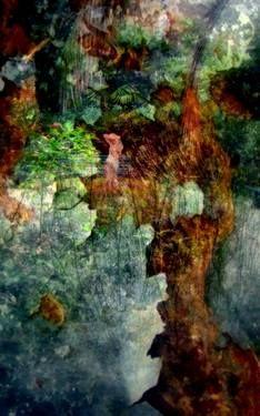 "Saatchi Art Artist Yo  La; Collage, ""Secret Garden   ,Athena"" #art"