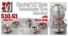 TASTEFUL CHOICE! – Orchid V2 Style RTA w/ Glass Tank – $10.61
